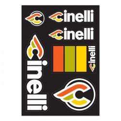 CREST STICKER PACK BLACK Zestaw naklejek Cinelli ITALO '79 STICKER PACK BLACK