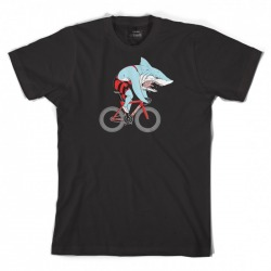 T-Shirt CINELLI SAM TURNER 'SHARK' biały